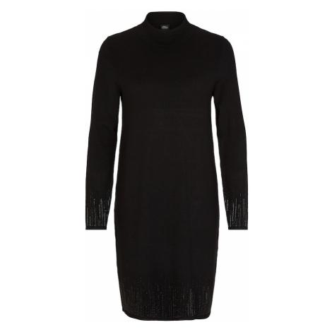 S.Oliver BLACK LABEL Sukienka z dzianiny czarny