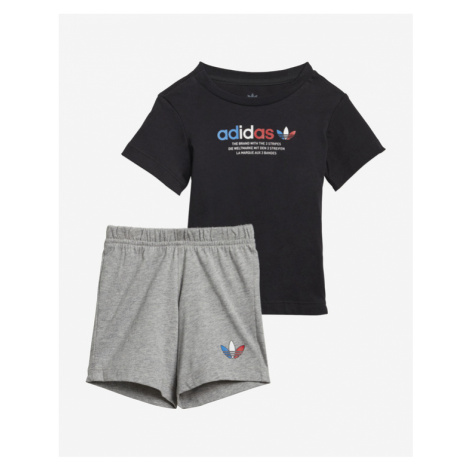 adidas Originals Adicolor Zestaw dziecięcy Czarny Szary
