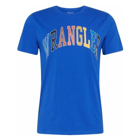 WRANGLER Koszulka 'RAINBOW' kobalt niebieski