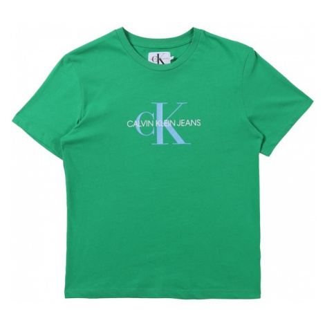 Calvin Klein Jeans Koszulka 'MONOGRAM LOGO' zielony