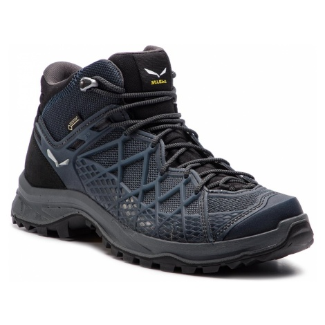 Trekkingi SALEWA - Wild Hiker Mid Gtx GORE-TEX 61340-0982 Black Out/Silver