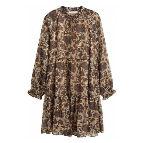 MANGO Sukienka koszulowa 'Nita' piaskowy / niebieski / jasnobrązowy / nakrapiany brązowy