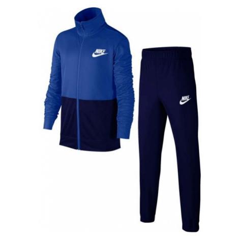 Nike NSW TRACK SUIT POLY B niebieski L - Dres dziecięcy