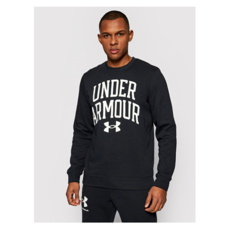 Under Armour Bluza Rival Terry Crew 1361561 Czarny Loose Fit