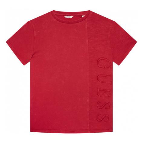 Guess T-Shirt L1RI26 K8HM0 Czerwony Regular Fit