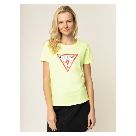 Guess T-Shirt Basic Triangle Tee W01I98 JA900 Żółty Regular Fit
