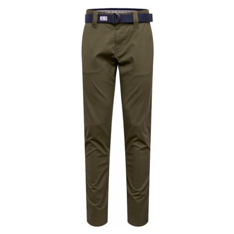 Tommy Jeans Spodnie 'SCANTON DOBBY ' oliwkowy Tommy Hilfiger