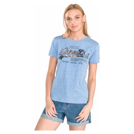 SuperDry Koszulka Niebieski