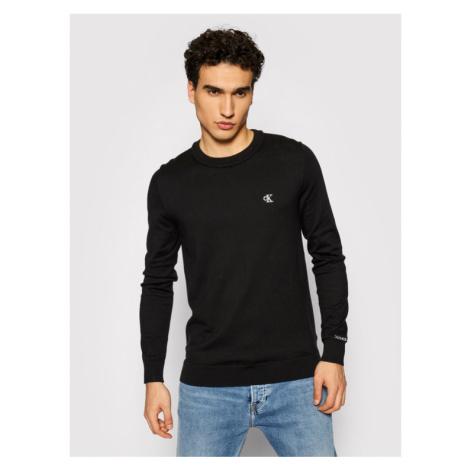 Calvin Klein Jeans Sweter Stretch Jumper J30J317118 Czarny Regular Fit