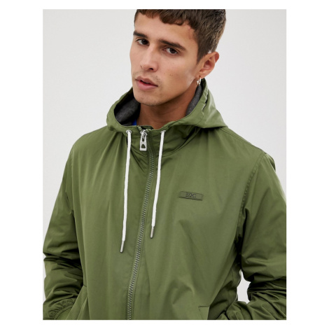 Esprit hooded bomber jacket in khaki
