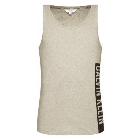 Calvin Klein Swimwear Tank top Crew KM0KM00483 Szary Regular Fit