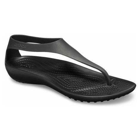buty Crocs Serena Flip - Black/Black