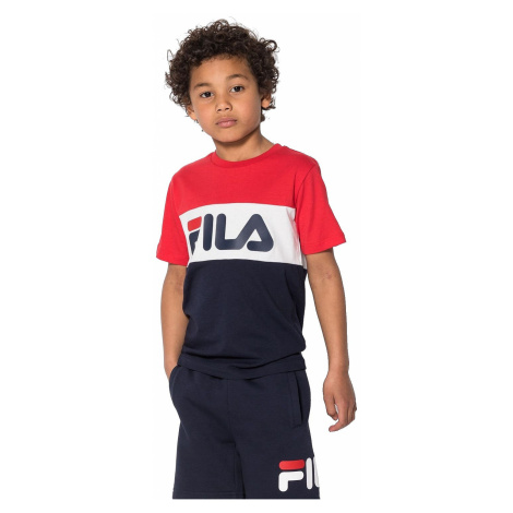 T-shirt Fila Classic Day Blocked - Black Iris/True Red/Bright White