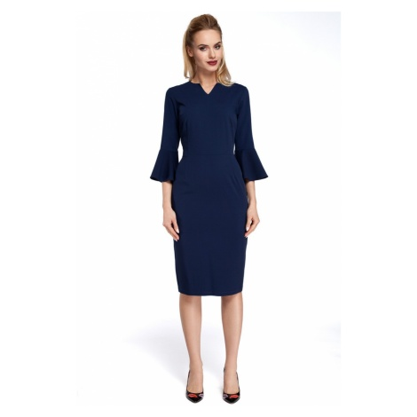 Made Of Emotion Woman's Dress M299 Navy Blue