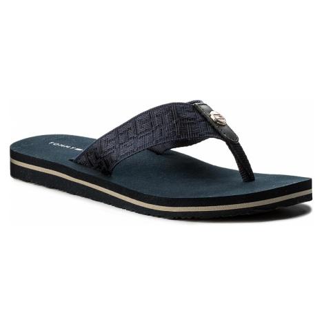 Japonki TOMMY HILFIGER - Jacquard Low Beach Sandal FW0FW02382 Midnight 403