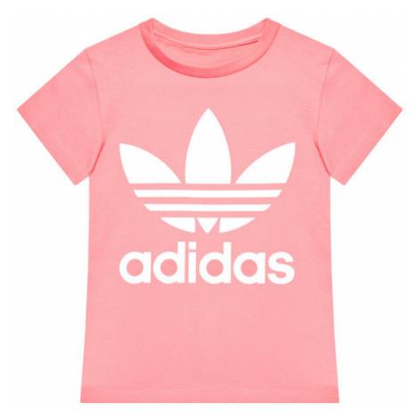 Adidas T-Shirt Trefoil GN8205 Różowy Standard Fit