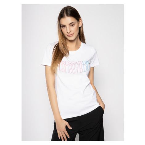 Trussardi Jeans T-Shirt Jersey Stretch 56T00254 Biały Slim Fit