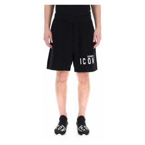 Dsquared2, short sweatpants Czarny, male, rozmiary: Dsquared²