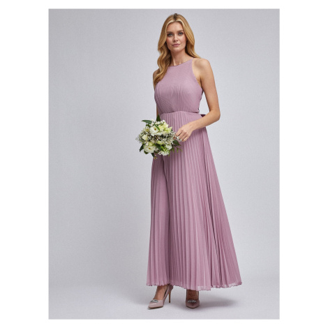 Stara różowa plisowana sukienka maxi Dorothy Perkins
