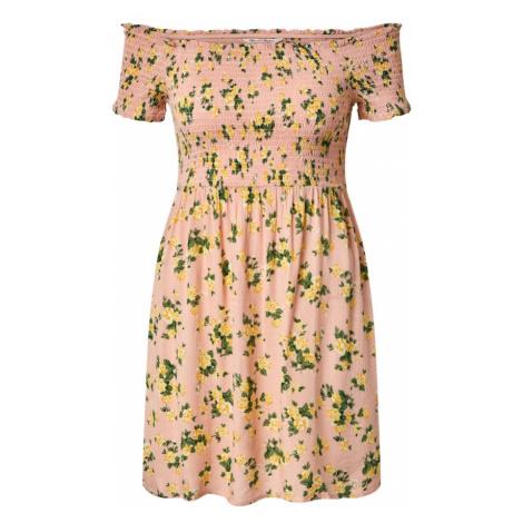 Miss Selfridge Sukienka 'AMIRA SHEERED MINI' różowy / pomarańczowy
