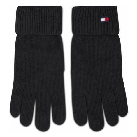 Tommy Hilfiger Rękawiczki Damskie Essential Knit Gloves AW0AW09027 Czarny