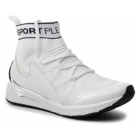 Sneakersy PLEIN SPORT - Hi-Top Sneakers Logos P19S MSC2112 STE003 White 01