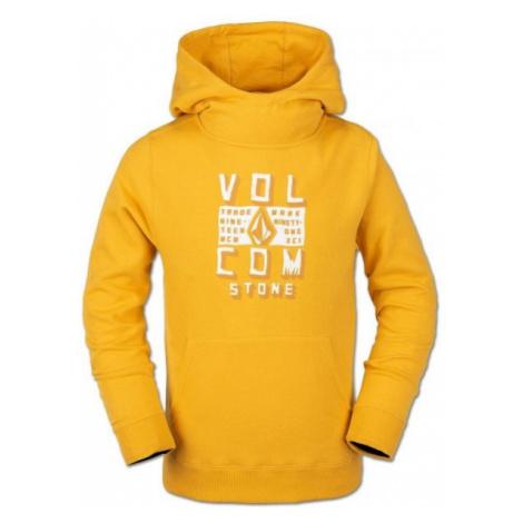 Volcom HOTLAPPER FLEECE żółty S - Bluza dziecięca