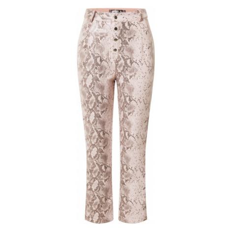 Missguided Spodnie różowy / czarny
