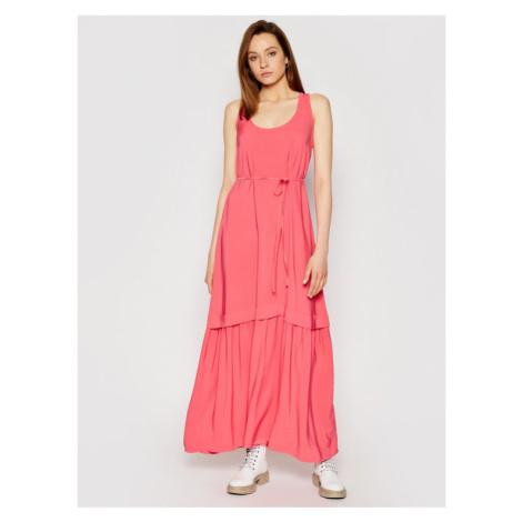 TwinSet Sukienka wieczorowa 211TT2168 Różowy Regular Fit