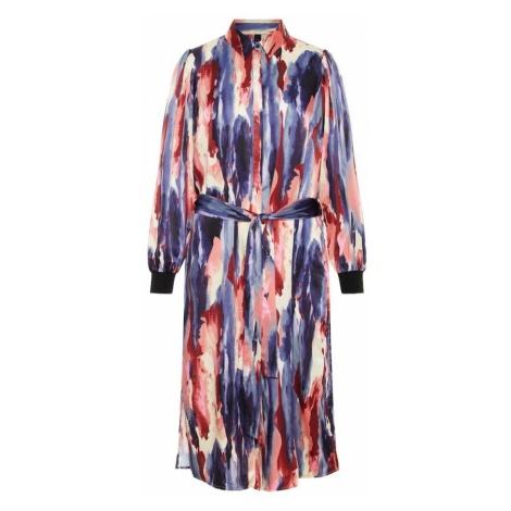 Y.A.S Sukienka koszulowa beżowy / ciemny niebieski / ciemnofioletowy / stary róż / jasnoróżowy /