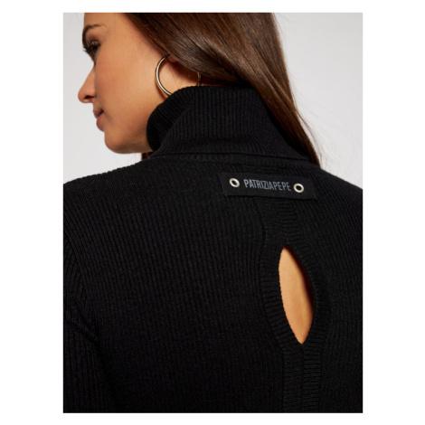 Patrizia Pepe Sweter 2M3987/A7S0-K103 Czarny Slim Fit
