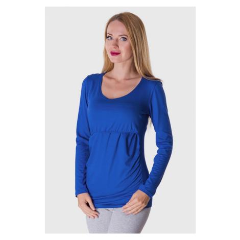 Niebieskie koszulki, podkoszulki i bluzki ciążowe