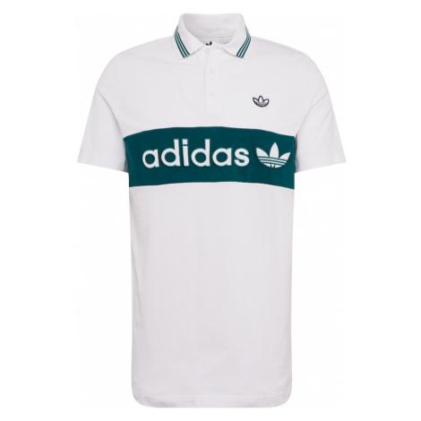 ADIDAS ORIGINALS Koszulka ciemnozielony / biały