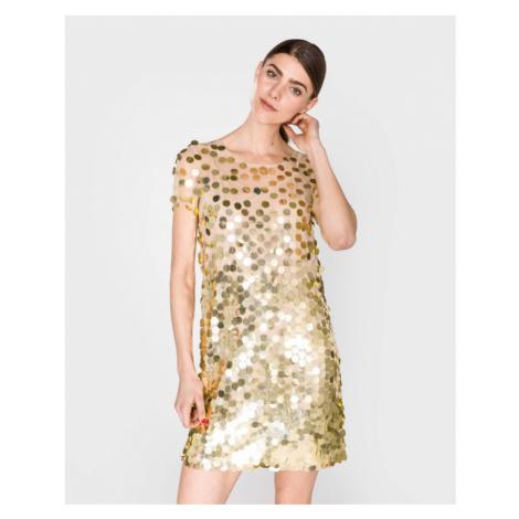 French Connection Basu Sukienka Złoty