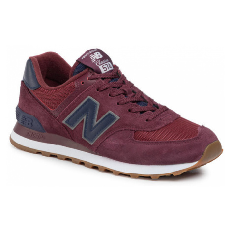 New Balance Sneakersy ML574SPQ Bordowy