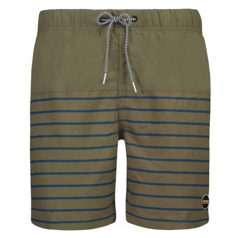 Shiwi Szorty kąpielowe khaki / niebieski / biały
