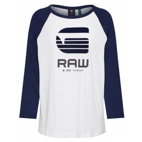 G-Star RAW Koszulka kremowy / niebieski