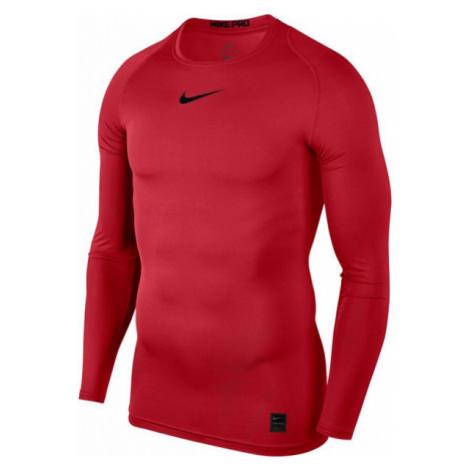 Nike PRO TOP czerwony L - Koszulka sportowa męska