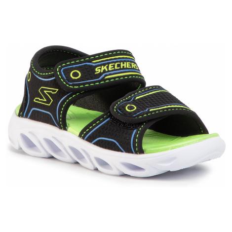 Sandały SKECHERS - Hypno-Splash 90522N/BBLM Blk/Blue/Lime
