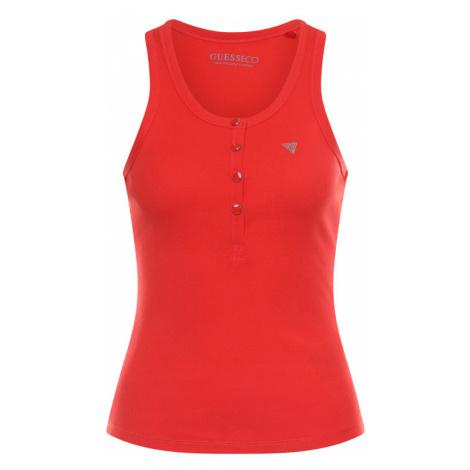 Guess Top Afrodite W0GP08 K9ON0 Czerwony Slim Fit