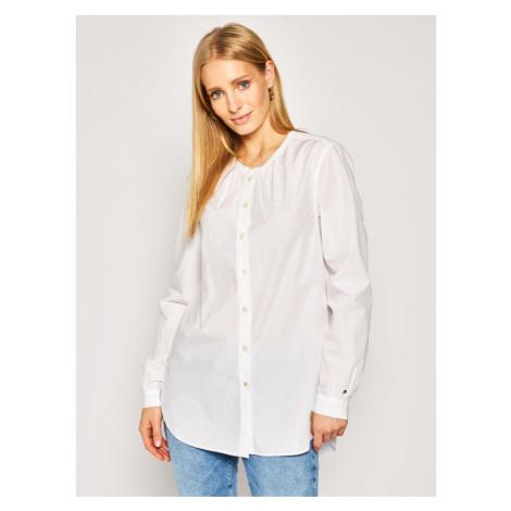 Tommy Hilfiger Koszula Essential Lea WW0WW27957 Biały Regular Fit