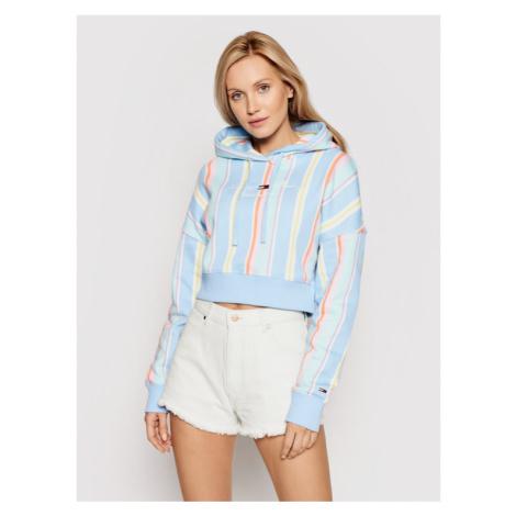 Tommy Jeans Bluza Stripe DW0DW10972 Kolorowy Regular Fit Tommy Hilfiger