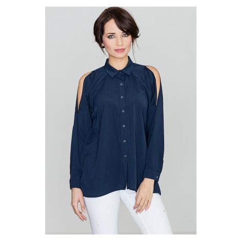 Lenitif Woman's Shirt K383 Navy Blue