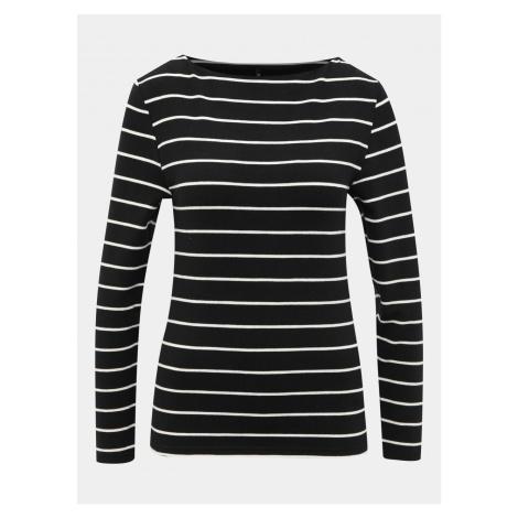 Black Striped Basic T-shirt ONLY Finea