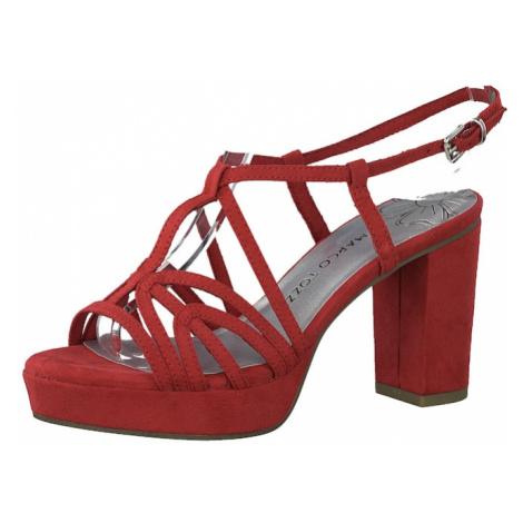MARCO TOZZI Sandały z rzemykami czerwony