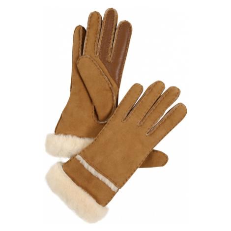 UGG Rękawiczki pięciopalczaste beżowy / jasnobrązowy