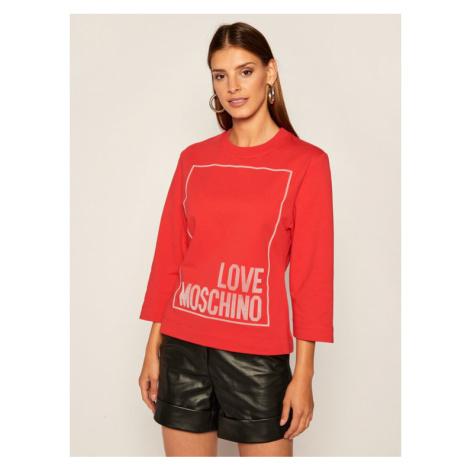 LOVE MOSCHINO Bluza W637104E 2182 Czerwony Regular Fit
