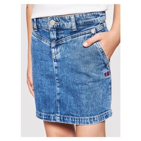 Tommy Hilfiger Spódnica jeansowa KG0KG05784 D Granatowy Regular Fit
