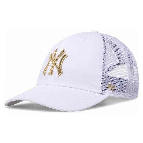 Czapka z daszkiem 47 BRAND - New York Yankees Branson Metallic '47 B-BRMTL17CTP White