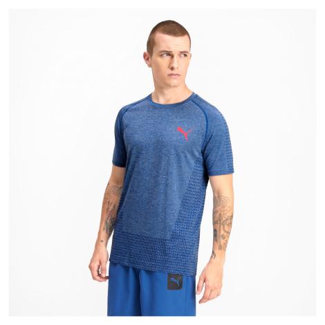 PUMA Męska Koszulka Tec Sports EvoKNIT Niebieski, Odzież